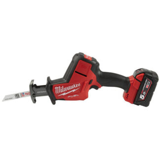 Milwaukee M18 FHZ-502X Tigersåg med 5,0Ah batterier och laddare